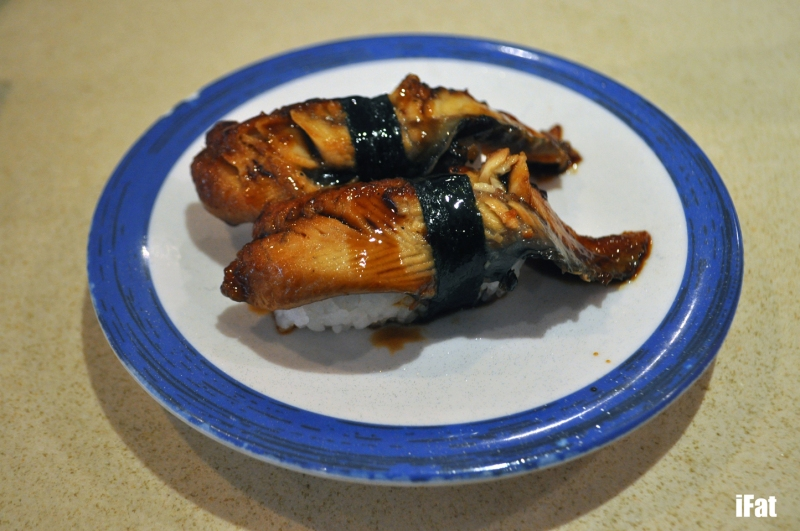 Grilled eel sushi